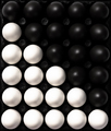 Black and White Eggs. Cultural Diversity Concept Image. Flat Lay Abstract Pattern - PhotoDune Item for Sale