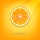 Fresh Orange on Orange Background - GraphicRiver Item for Sale