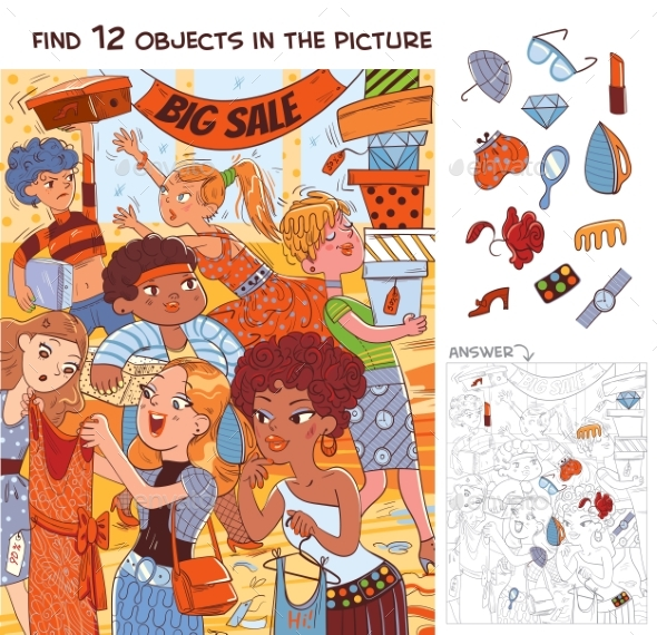 Find 12 Objects in the Picture