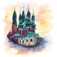 Poznan Cathedral at Sunset Poland - GraphicRiver Item for Sale