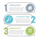 Infographic Template with Three Elements - GraphicRiver Item for Sale