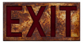 Old rusty exit sign - PhotoDune Item for Sale