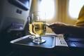 Drinking glasses of sparkling during flight - PhotoDune Item for Sale