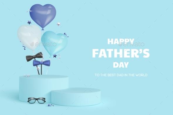Happy Fathers Day Display Podium