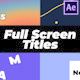 Full Screen Titles - VideoHive Item for Sale