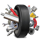 Vector Car Parts with Tire - GraphicRiver Item for Sale