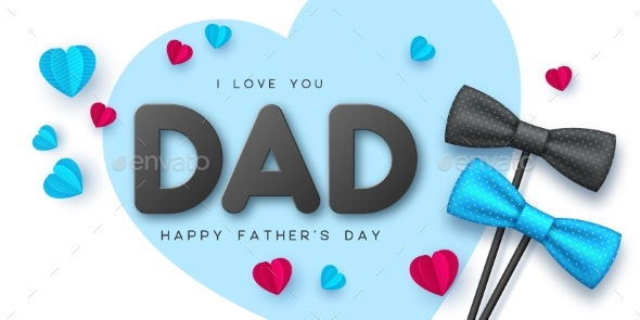 Happy Fathers Day Typographic Design