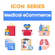 50 Medical eCommerce Icons   Rich Series - GraphicRiver Item for Sale