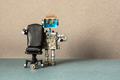 Job search recruitment concept. Robot office manager stands near comfortable black leather chair. - PhotoDune Item for Sale