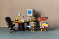 A funny robotics office managers holds a folders with documents. - PhotoDune Item for Sale