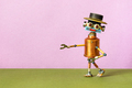 Creative design copper mister robot with a funny hat - PhotoDune Item for Sale