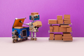 Automation service of warehousing shipment and distribution concept. - PhotoDune Item for Sale