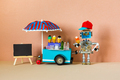 Mobile ice cream cart and robot seller. - PhotoDune Item for Sale
