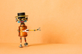 Creative design mechanical copper robot with a funny hat - PhotoDune Item for Sale