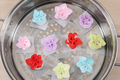 Chinese style colorful flower dumplings before steaming - PhotoDune Item for Sale