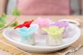 Chinese style colorful flower dumplings or dim sum - PhotoDune Item for Sale