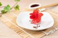 Chinese red color flower dumpling or dim sum - PhotoDune Item for Sale