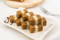 Southeast Asia three layers steamed coffee cake - PhotoDune Item for Sale