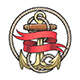 Nautical Emblem of Anchor and Red Ribbon - GraphicRiver Item for Sale