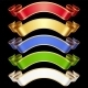 Vector Ribbons set. Multicolored banners isolated  - GraphicRiver Item for Sale