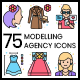 75 Modelling Agency Icons   Vivid Series - GraphicRiver Item for Sale