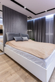 Modern design bedroom with comfortable bed - PhotoDune Item for Sale