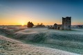 Frosty sunrise over the old church at Knowlton - PhotoDune Item for Sale
