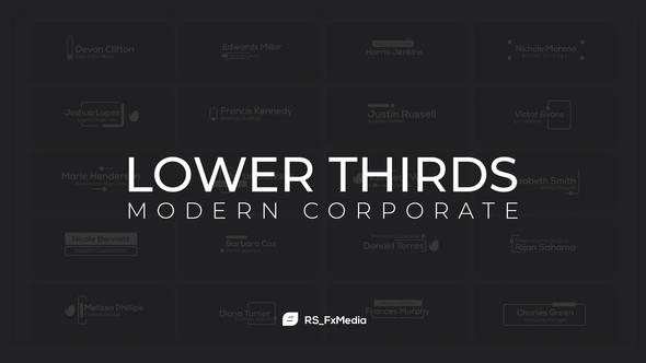 Lower Thirds   Modern Corporate