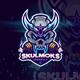 Esport Logo for Gaming -  Skull Smoke - GraphicRiver Item for Sale