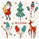 Santa Claus, Christmas Tree, Snowman, Elf, Mittens, Deer. - GraphicRiver Item for Sale