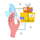 Hand Holding Phone. Safe Delivery. Mail, Box, Delivery. - GraphicRiver Item for Sale