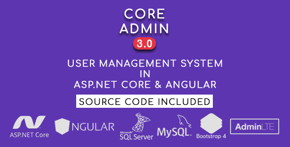 Core Admin - User Management System in ASP.NET CORE & Angular