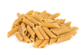 Heap of raw penne pasta on white background - PhotoDune Item for Sale
