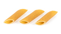 Raw penne pasta pieces on white background - PhotoDune Item for Sale