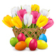 Vector Easter Concept with Wicker Vase - GraphicRiver Item for Sale