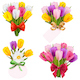 Vector Tulip Bouquet Icons - GraphicRiver Item for Sale