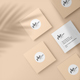 Square Business Card Mockup - GraphicRiver Item for Sale