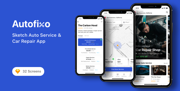 Download Autofixo - Sketch Auto Service & Car Repair App Nulled