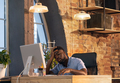 African businessman, manager working in modern office using devices and gadgets - PhotoDune Item for Sale