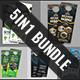 5in1 Business Door Hanger Bundle V02 - GraphicRiver Item for Sale