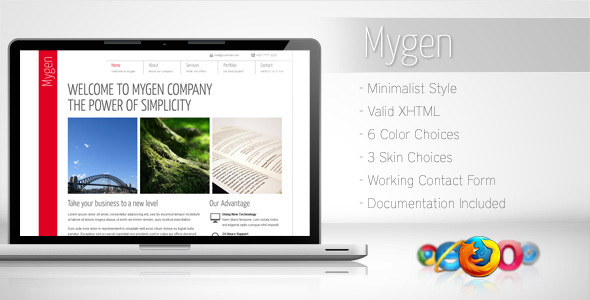 Mygen - Minimalist Business Template 2