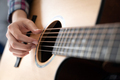 Woman's hands playing acoustic guitar, close up - PhotoDune Item for Sale