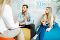 Young couple during the psychological counseling with psychologist - PhotoDune Item for Sale