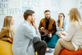 Group of people during the psychological therapy indoors - PhotoDune Item for Sale