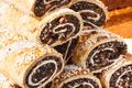Portion of fresh homemade poppy seeds cake. Festive dessert - PhotoDune Item for Sale