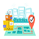 Safe Delivery. Mail, Box, Delivery. Post. Fast Service. Geolocation. - GraphicRiver Item for Sale