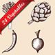 24 Vegetables Hand Drawn Sketch - GraphicRiver Item for Sale