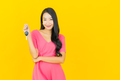 Portrait beautiful young asian woman smile with car key - PhotoDune Item for Sale
