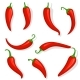 Fresh Red Hot Chili Pepper - GraphicRiver Item for Sale