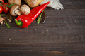 Sliced bread Ciabatta and vegetables - PhotoDune Item for Sale